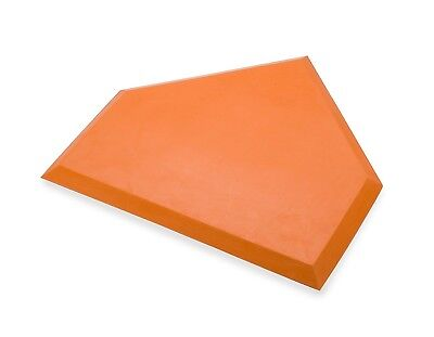 (Orange) - Athletic Specialties Heavy Duty Home Plate without Stakes