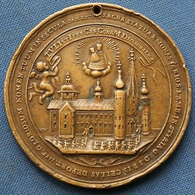 A11) Franz I., Maria Theresia, Papst Benedikt XIV. Mariazell 1757 Medaille