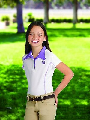 (Small, Amethyst) - Romfh Childs Competitor S/S Show Shirt. Huge Saving