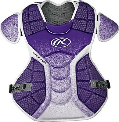 (Purple/White) - Rawlings Sporting Goods Catchers Chest Protector Velo Series