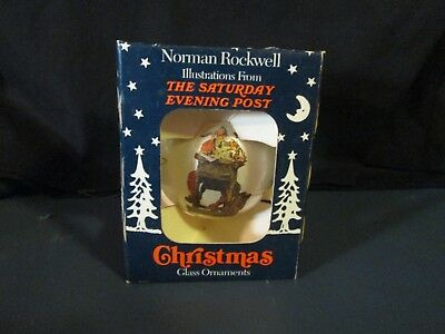 Norman Rockwell Christmas Glass Ornament The Saturday Evening Post NEW