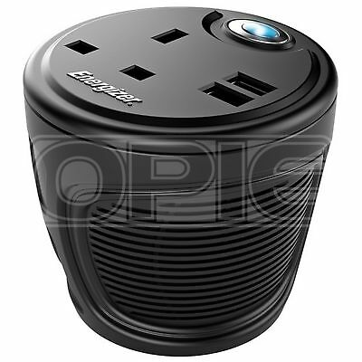 Energizer Cup Holder Inverter - 12V to 230V - 120W (50600B)