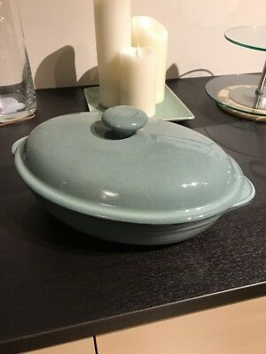 Denby Regency Green Oval Serving Dish With Lid