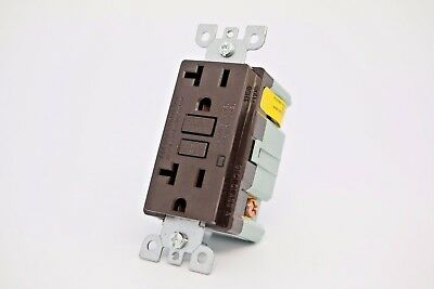 20A Gfci Safety Outlet 2008 Ul - Brown