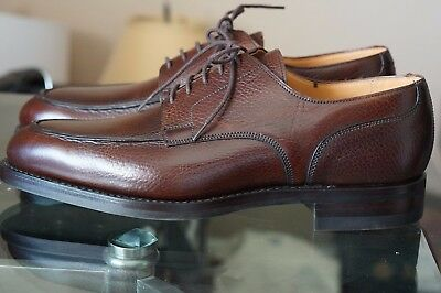New Crockett & Jones Durham 8.5 D Uk 7.5 E Split Toe Nst Apron Brown Scotchgrain