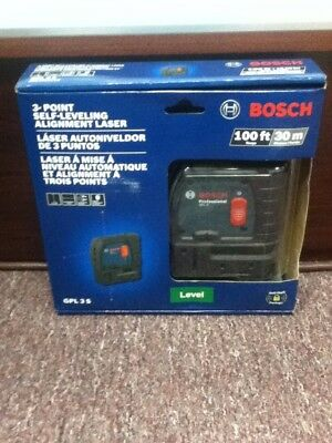 Brand New,BOSCH GPL 3 S Point Self Leveling Alignment Laser