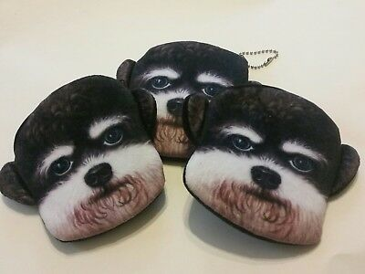 3 Labradoodle Dog  Puppy Coin Purses  STOCKING STUFFER Fast Shipping!!
