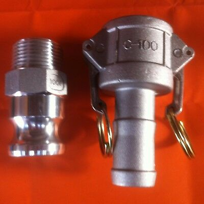 "1"" inch BSP Hosetail Camlock Set 