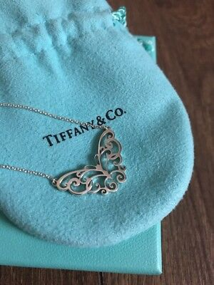 Return To Tiffany & Co Enchant Butterfly Vintage Pendant Necklace Charm RARE