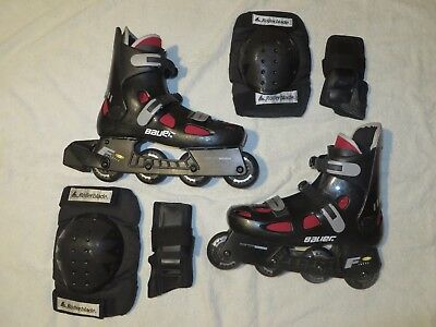 Bauer F2 Fitness Roller Blades, US 9 / UK 8, Used
