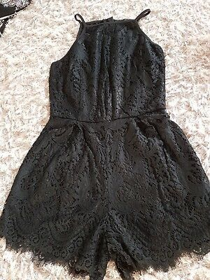 Girls Playsuit Black Age 14 New Look