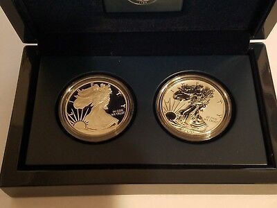2012 American Eagle San Francisco Two-Coin Silver Proof Set W/box And Coa