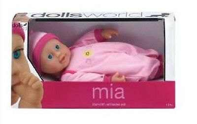 Brand New Dollsworld Mia Baby Soft Bodied Doll Pretend Play Baby 25cm Pale Pink