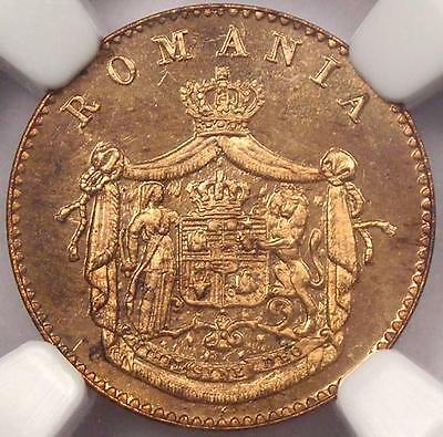 1867-H PROOF Romania Banu - NGC PR65 RB - Very Rare PF65 Coin!