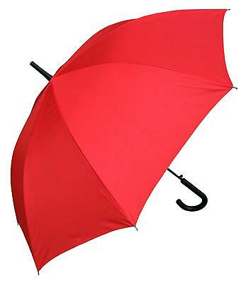 Windproof Strong Umbrella Auto Open & Close Stylish Design For Women Men Red USA