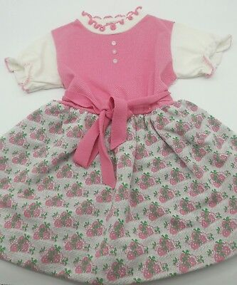 Vintage baby girl toddler strawberry dress