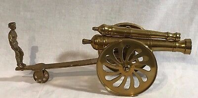 Beautiful Large Vintage Brass Canon - LOOK!!