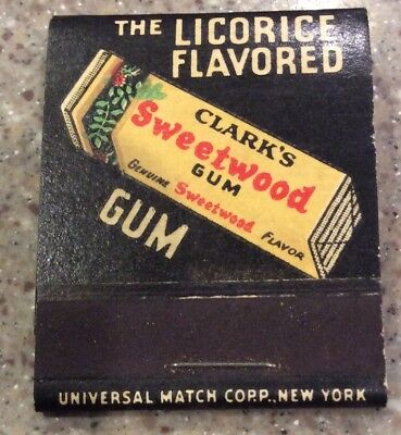 Vintage Clark's Sweetwood Chewing Gum Matches New Old Stock 1920's