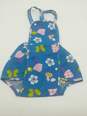 Vintage baby girl toddler romper sunsuit mushrooms