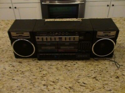 Vintage Fishewr PH-W405 Stereo Dual Cassette AM/FM Radio Boombox