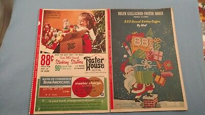 Vintage- Helen Gallagher-Foster House Catalog 1969-1970- Holiday Catalog