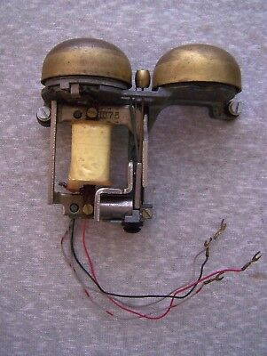 Vintage Western Electric Telephone Ringer Brass Bells & Wires Parts