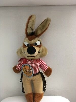 1971 Wile E Coyote Plush Doll Made In Korea Warner Bros 18 Inches Tall