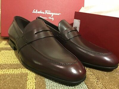 Brand New Salvatore Ferragamo Men's Gaudo Loafer Wine In Box Size 9EE