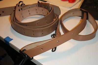 Repro US WW2 M1 Rifle Leather Sling  Garand Springfield Strap