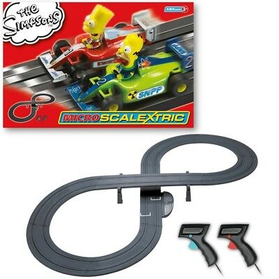 Scalextric G1117T Micro The Simpsons Grand Prix Race Set (1:64 Scale)