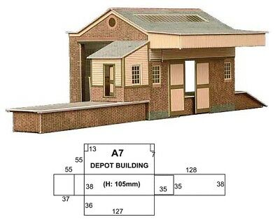 Superquick Card Kit -Goods Depot A7 - Good Detail Ho / Oo Scale