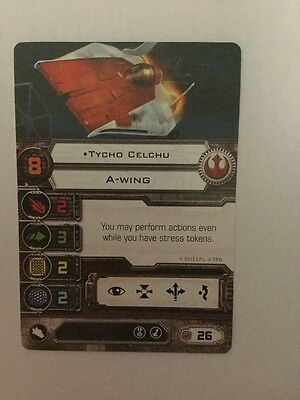 Star Wars X Wing Miniatures Game Rebel A Wing Tycho Celchu
