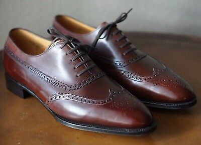 New John Lobb Westminster Wingtip Uk 10 E 11 D 7000 Balmoral Prestige Dark Brown