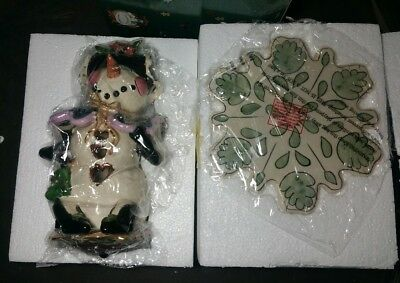 New - Blue Sky Clayworks Heather Goldminc - MRS. SNOWMAN/Snowlady/SnowWoman