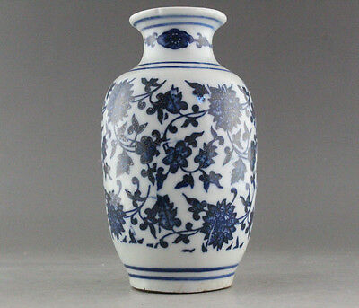 Rare Blue And White Porcelain Flower Vase Of Chinese Antique  B362