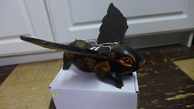 Indonesian / Balinese Handcrafted Wooden Flying Black Pig Boar