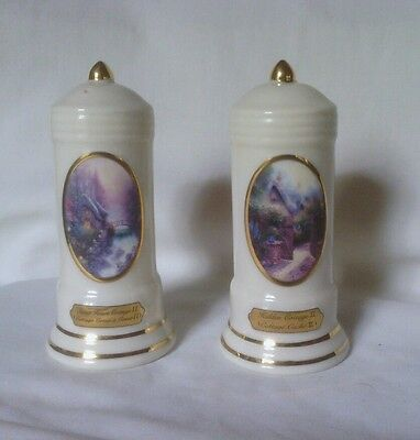 AVON, Thomas Kinkade Canadian Bilingual, Salt and Pepper Shakers Unmatched, GUC