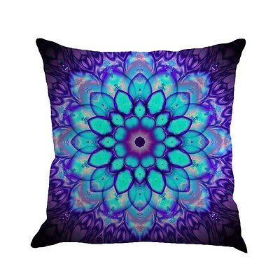 Geometry Painting Linen Cushion Cover Throw Pillow Case Sofa Home Decor Pillow
