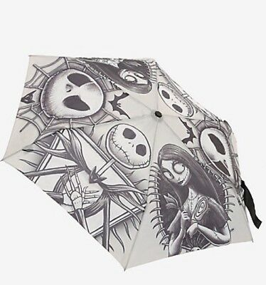 Disney The Nightmare Before Christmas Jack & Sally Push Button Umbrella NWT!
