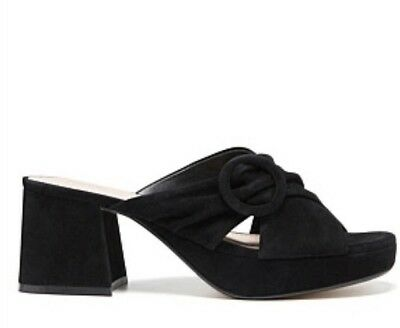 MIMCO Ladies Shoes Wedges Sandals Black Suede Size 38 BRAND NEW IN BOX RRP $229