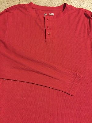 Under Armour Men's Henley Long Sleeve Polo T-Shirt XL Cold Gear Red RARE NWOT UA