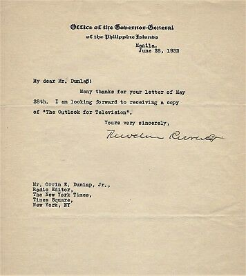 General Theodore Roosevelt Jr. (1887-1944) Lot of 3 Typed Autographed Letters