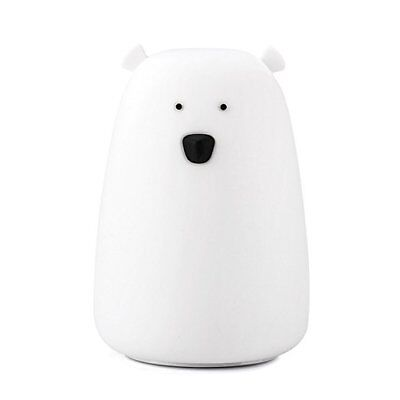 Big Bear LED Night Light, Nursery Lamp, Lovely Baby Sleep Soother Gifts -White