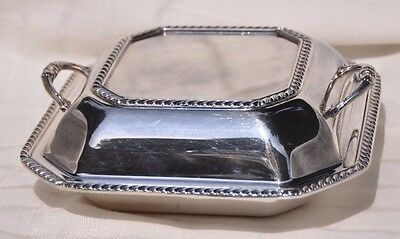 Antique Sheffield Silver Plate Covered Serving Dish, Great Cond. Made In Usa