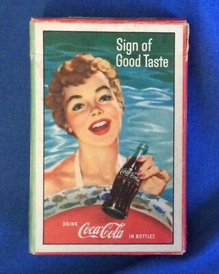 Drink Coca Cola Coke Playing Cards Girl At Beach Sign Of Good Taste 1959