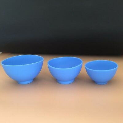 3pcs Dental Lab Flexible Alginate Mixing Bowl Flexible Rubber Mixing Bowl 3 size