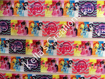 My Little Pony Foe (Fold over elastic) sold by 2 M - Craft - Hair etc
