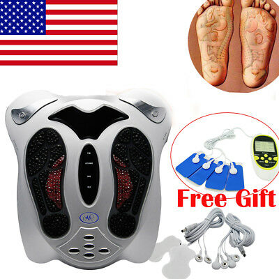 US Circulation Medical Blood Booster Foot Massager Infrared Electromagnetic+Gift