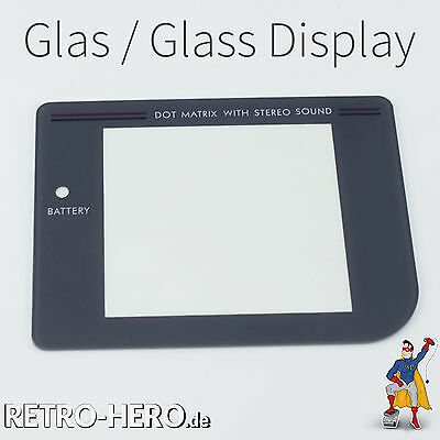Gameboy Classic Display Scheibe Grau LCD Linse Screen Game Boy - ECHTES Glas