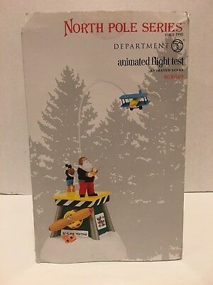 Dept 56 North Pole 'Animated Flight Test' Airplane #4036549 New in BOX!